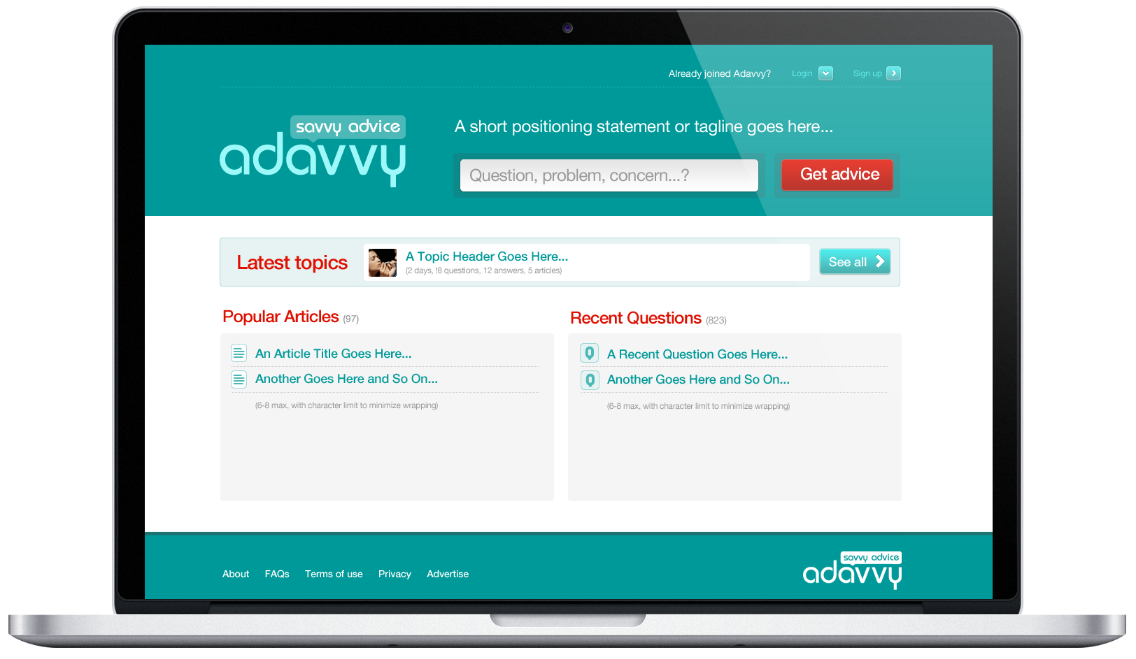Adavvy screen 01