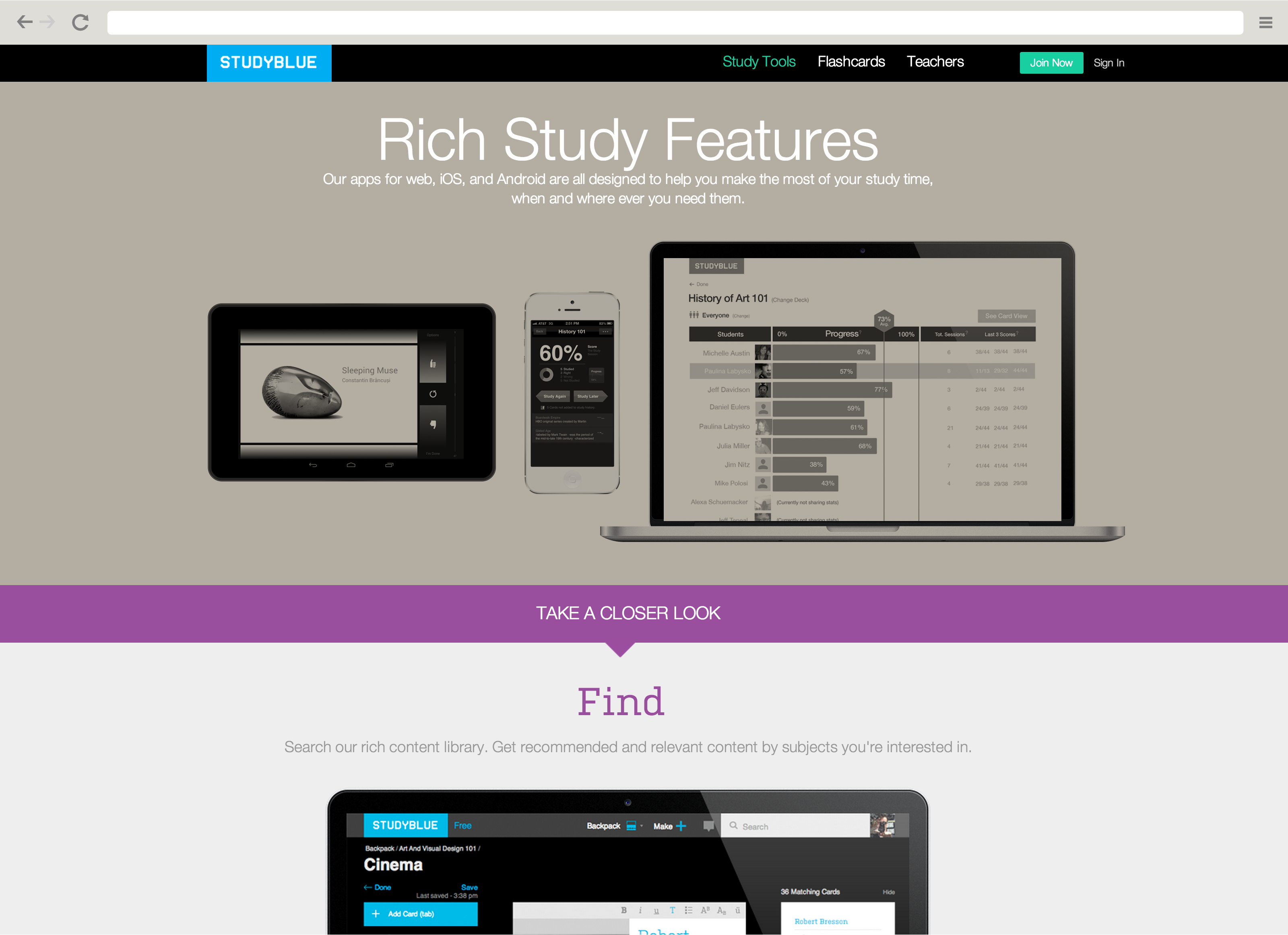StudyBlue - website