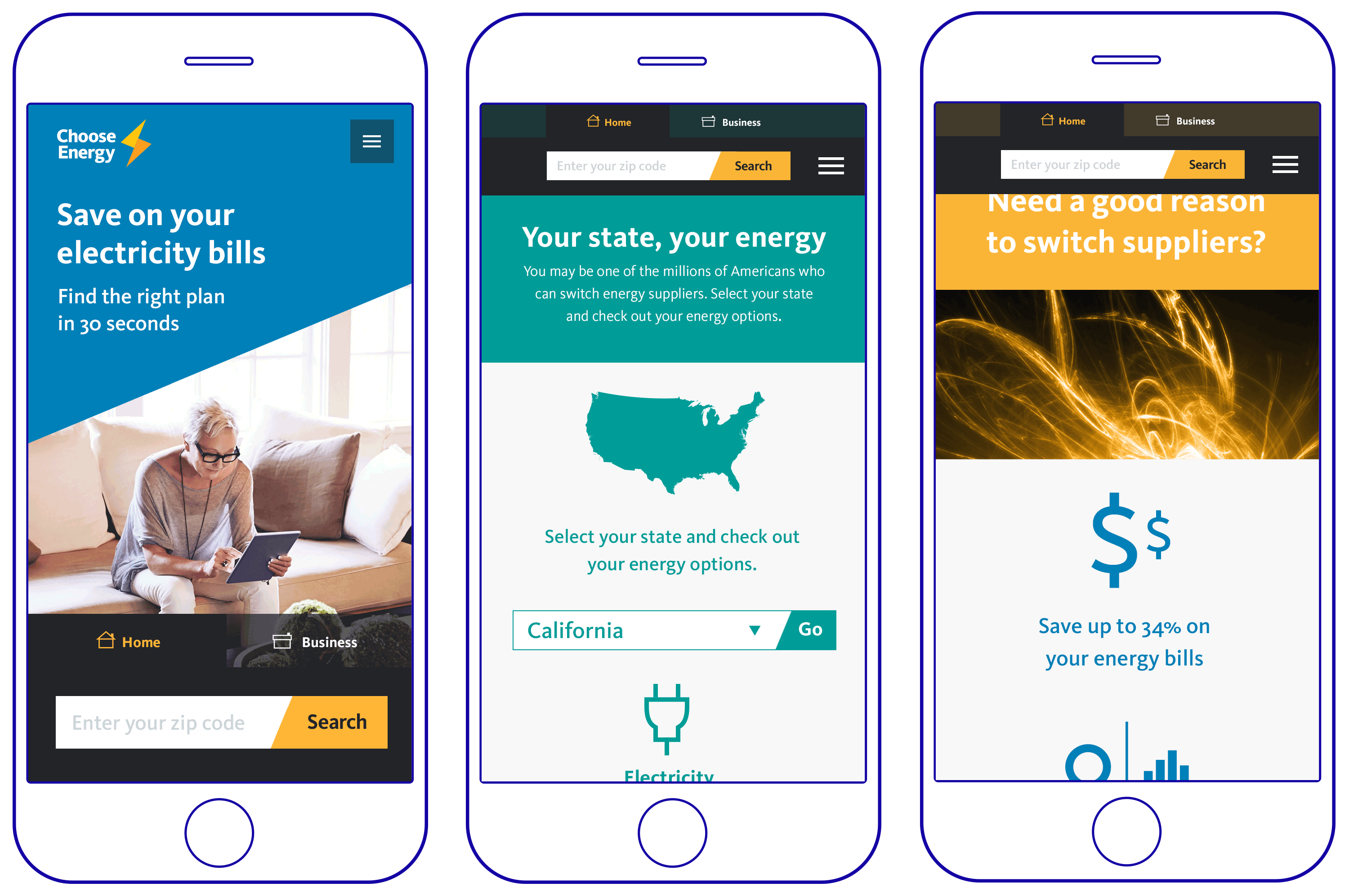 Choose Energy - mobile website
